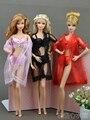 Красный черный розовый Фестиваль Рождественские Подарки Для Девочек Кукла кружева пижамы бикини брюки Одежда Для Барби 1:6 Кукольный BBI00670