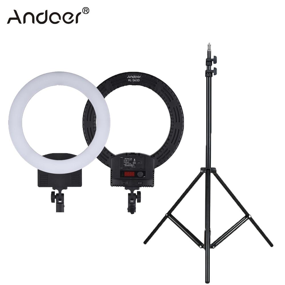 """Andoer RL 560D リングライト 12 """"LED リングランプ 2 色 3200 K 5600 5500k の写真撮影の照明写真スタジオカメラ一眼レフカメラ  グループ上の 家電製品 からの 写真用照明 の中 1"""
