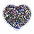 Grade AAA Pointed Back Resin Rhinestones, Diamond Shape, Mixed Color, 4.0mm; about 7200pcs/bag