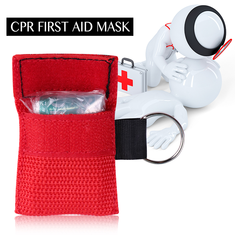 Image 3 - 20pcs 3 Color Medical CPR Resuscitator Mask Keychain First Aid Emergency Face Shield CPR Mask CPR Mask for Outdoor Survival-in Masks from Beauty & Health