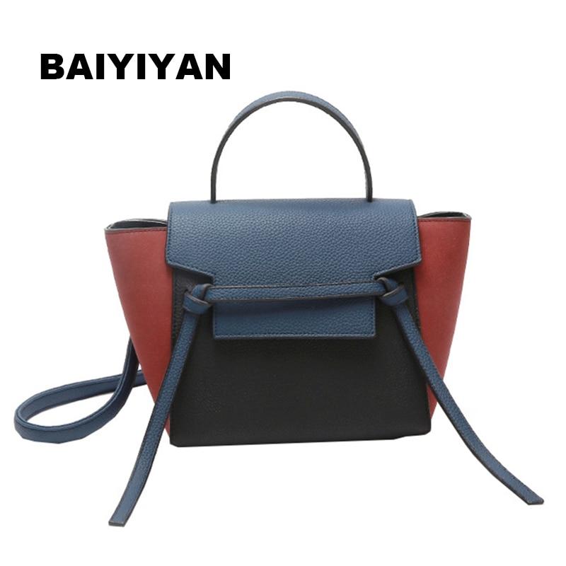 BAIYIYAN 2018 New Fall Fashion Hit Color Wings Bag High Quality Korean Female Bag Casual Handbag Shoulder Bag Catfish Tote bag