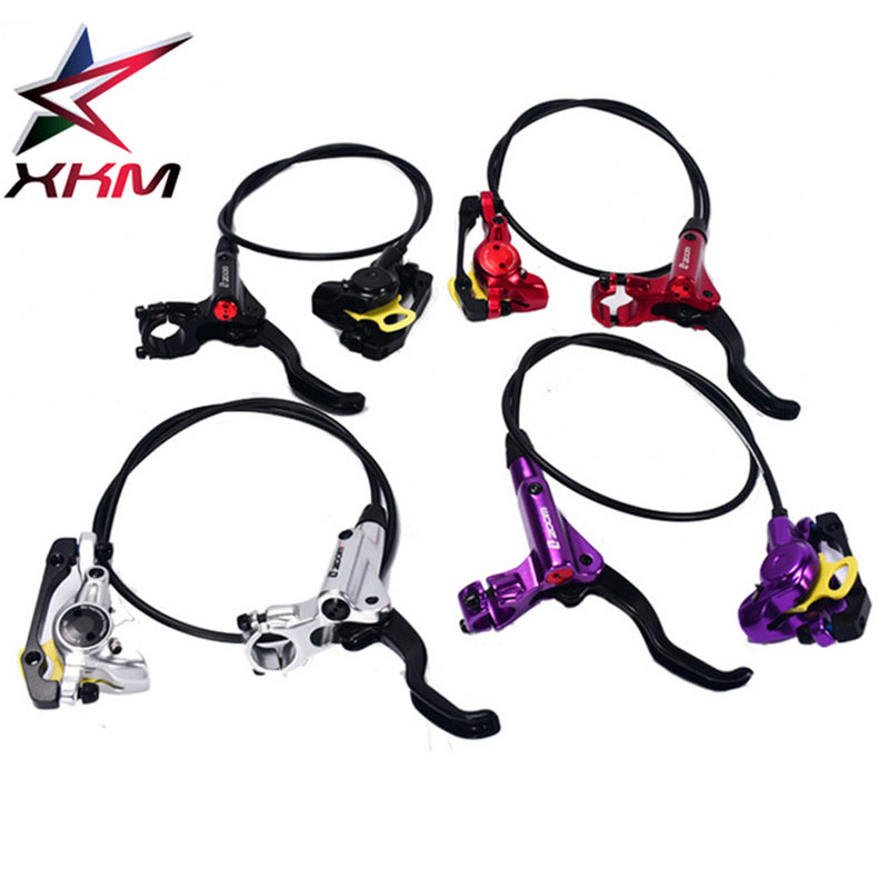 ZOOM HB 875 Bike Integrated Cylinder Hydraulic Brake Kit 750/1350 mm MTB Bicycle Hydraulic Disc Brake Set Front and Rear Parts 2016 magura mt2 bike bicycle hydraulic disk brake set front