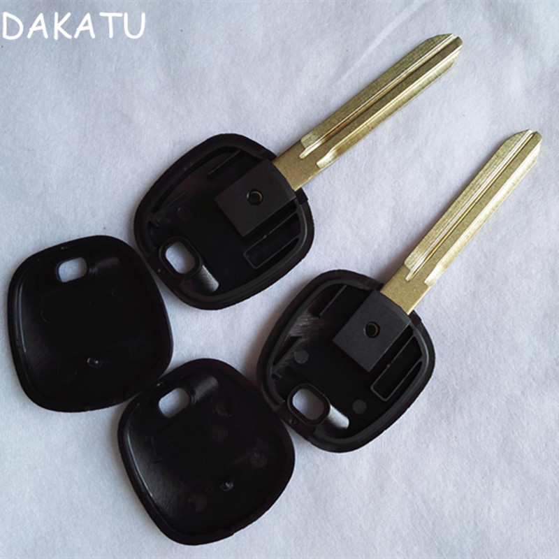DAKATU with LOGO Transponder key Shell For Toyota Uncut TOY43 Blade Position for the TPX1 2