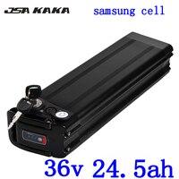 Livre taxa da alfândega 36 V 24AH 36 V bateria ebike 1000 W peixes de prata uso da bateria de lítio samsung 3500 mah carregador de celular com BMS + 42 30A V|Bateria de bicicleta elétrica| |  -