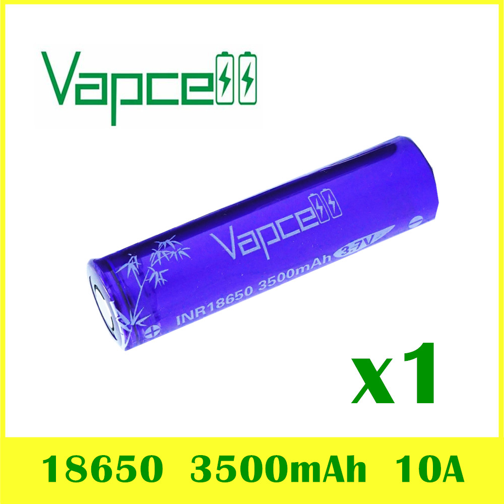 VAPCELL INR <font><b>18650</b></font> <font><b>3500mAh</b></font> lithium battery 3.7Vrechargeable HIGH POWER continuous 10A electronic smoke E-CIG <font><b>IMR</b></font> BATTERY image