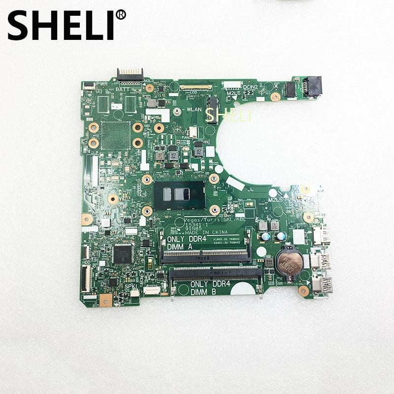 SHELI FOR DELL Mainboard CN-0DKK57 0DKK57 DKK57  Inspiron 15  3567 Laptop Motherboard With SR2ZU I5-7200U Cpu 15341-1 91N85