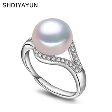 SHDIYAYUN Pearl Ring Natural Freshwater Pearl Jewelry 925 Sterling Silver Rings For Women Top Quality Classical Zircon Rings цена