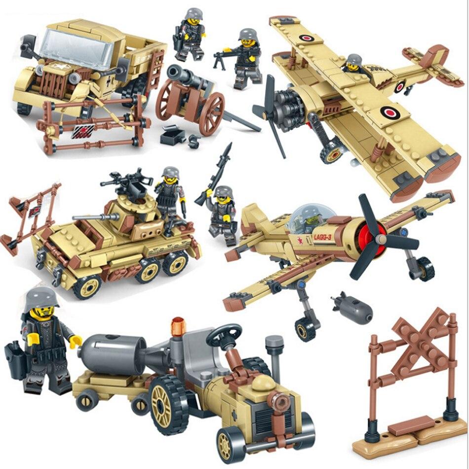 1035 piezas WW2 tropas del Ejército Camión Militar tanque plano modelo armas del soldado Compatible Legoed ciudad figuras bloques de construcción Juguetes