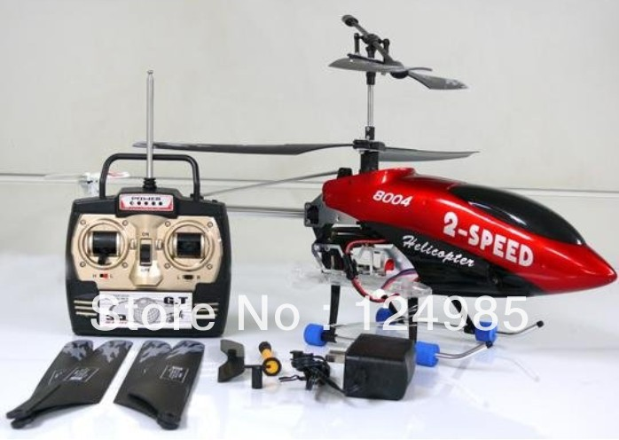 Free Shipping !!Huge 75cm 3ch outdoor qs8004 RTF RC helicopter stable flight QS 8004 R/C remote control radio control