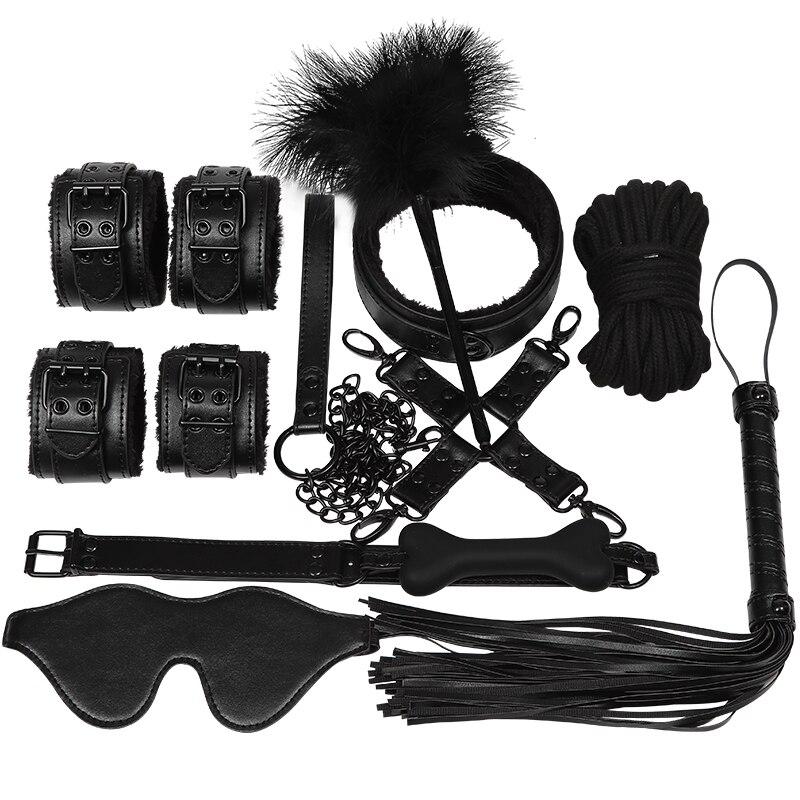 Leather bondage mask full face mask mouth gag mask fetish adults bdsm sex toy