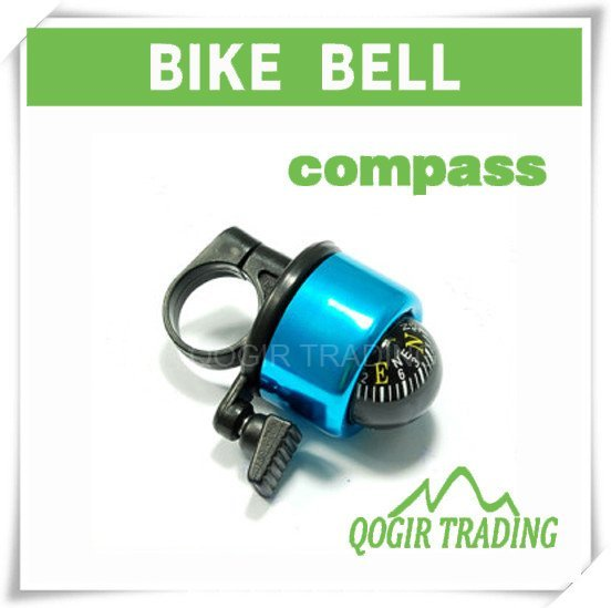 Bike Cycling Bicycle Ring Bell with Compass Ball Blue LY-6031