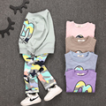 Kids Clothes  Christmas  Boys Girls Clothes Casual Toddler Fleece Sports Camouflage Tops+Pants clothing Sets baby clothing