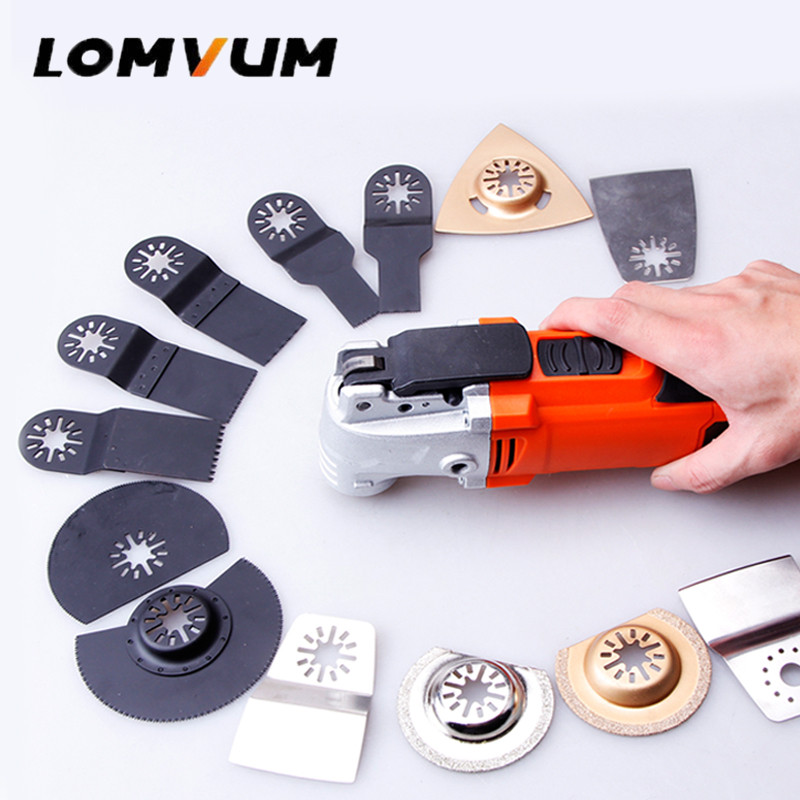 LOMVUM 220V Variable Speed Electric Multifunction Oscillating Tool Kit Multi-Tool Power Tool 300W 500W Electric Trimmer