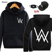 Alan Walker DJ Hip Hop Hoodies Sweatshirt Men Women Jacket Coat Tracksuits Sending Face Mask And