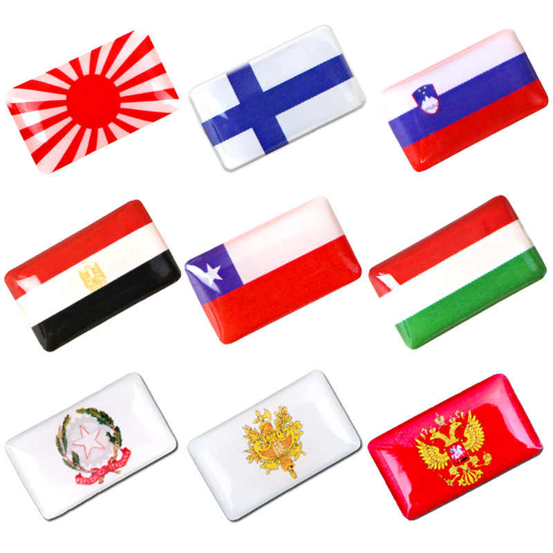 Japan Italy UK Russia France Spain Sweden Ukraine USA National Flag Emblem Car Stickers Automobiles Motorcycles Interior Decals