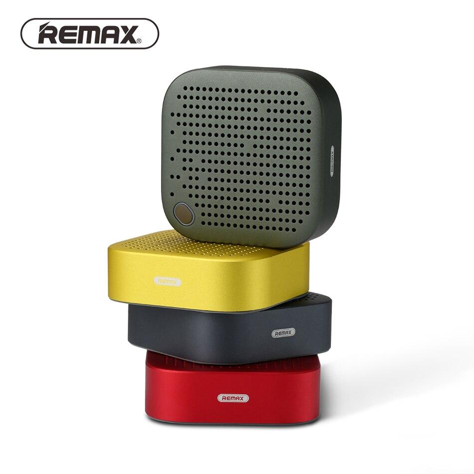 REMAX Portable Mini Bluetooth 4.2 Speaker 1200mAh Metal Stereo Music Bass HD Sound 5W Wireless AUX Outdoor Speaker Mini Player number