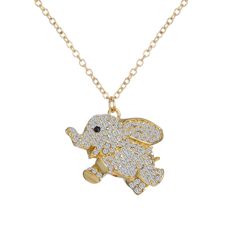 Cz austria crystal rhinestone necklace cute animal elephant cz austria crystal rhinestone necklace cute animal elephant pendant necklace gold filled necklace women fashion summer jewelry aloadofball Images