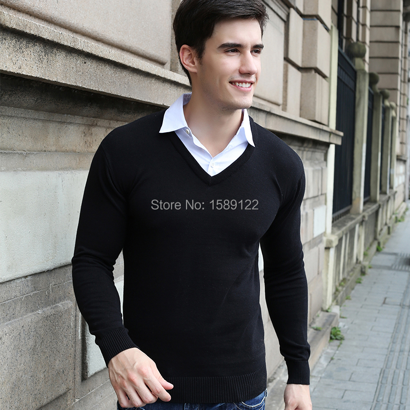 2015 casacos pullover men sueter masculino Shirt collar brand ...