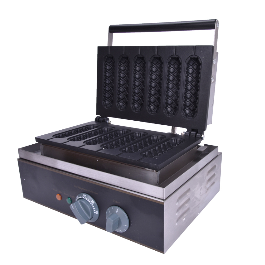 1PC FY-119 Muffin hot dog machine_crispy bar machine_corn shape baking machine_muffin hot dog rods Six, crisp machine gas muffin hot dog machine gas muffin hot dog machine for sale