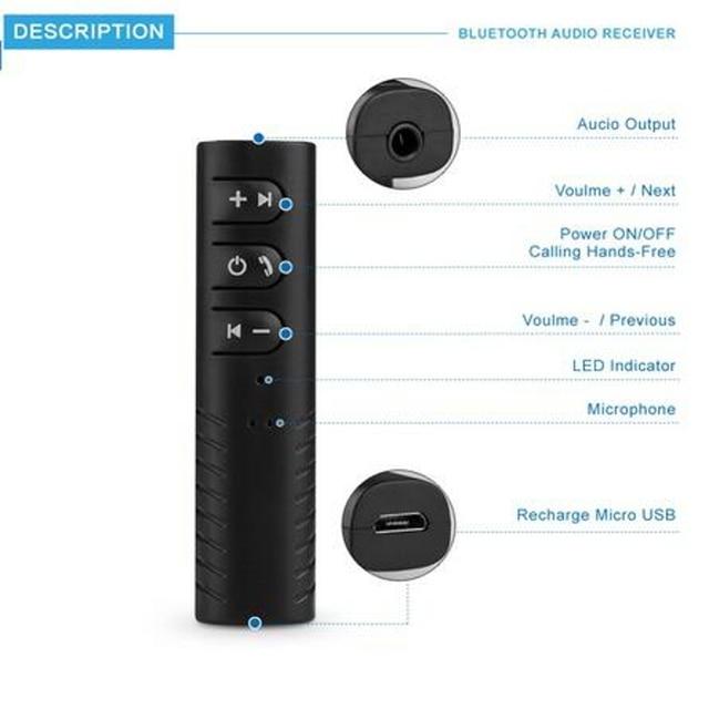 мини адаптер bluetooth 35 мм для наушников фотография