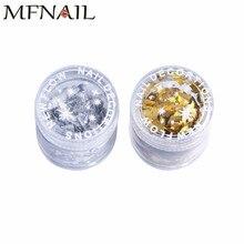 Silver/Gold Color 1 Box Nail Glitter Sequins Flakies Irregular Shape Iridescent Paillette Manicure Art Decoration