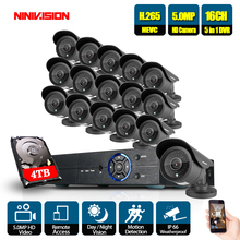 5MP Ultra HD 16CH DVR H.265+ CCTV Camera Security System 16PCS IP66 Weaterproof Outdoor Metal Video Surveillance kit
