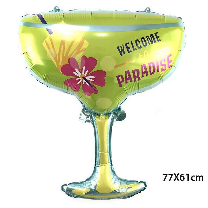 50 PC nouveau 77*61 cm Paradise vin verre aluminium feuille ballon fête d'anniversaire décorations enfants jouets fournitures