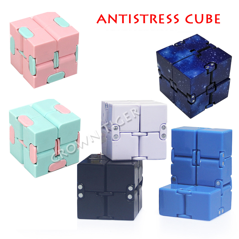 2019 antistress Infinite Cube Infinity Cube Magic Cube Office Flip Cubic Puzzle Stress Reliever Autism Toys relax toy for adults(China)