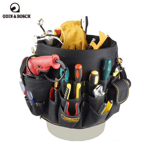 Odin Bosch Hight Quality Polyester Outside Garden Tool Bag Portable Mouth Open Tools For Plumbers
