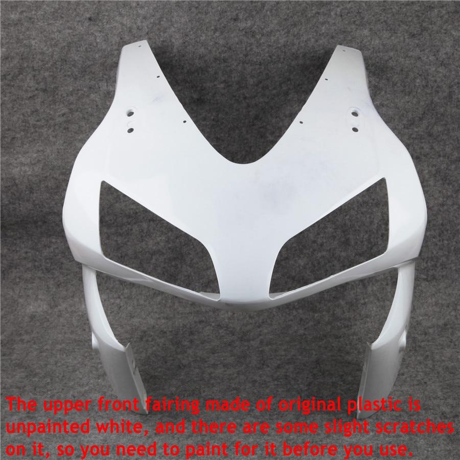 For Honda CBR600RR CBR 600 RR CBR 600RR 2003 2004 Motorcycle Unpainted Upper Front Fairing Nose Cowl Cover White