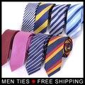 Marca de moda Dos Homens Novos Magros formais (6 cm) Laços de negócios pequenos laços Dos Homens Formais Gravata 14 Estilos em estoque