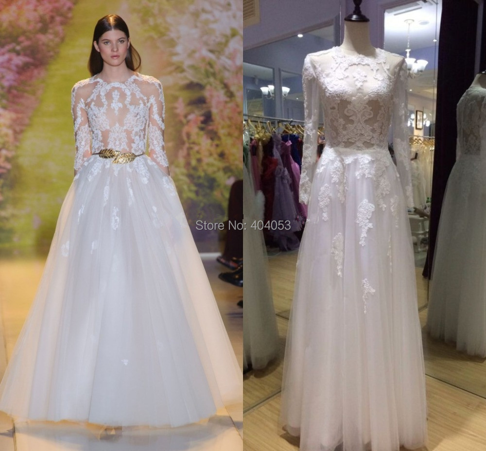 2015 real sample ball gown long sleeve 2014 zuhair murad for Zuhair murad wedding dresses prices