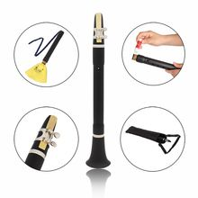 цена на 1 Set Mini Bb B Flat Clarinet Clarionet Woodwind Instrument with Cleaning Cloth Grease Reeds Carrying Bag