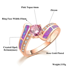 Timeless Violet Purple Fire Opal Rings