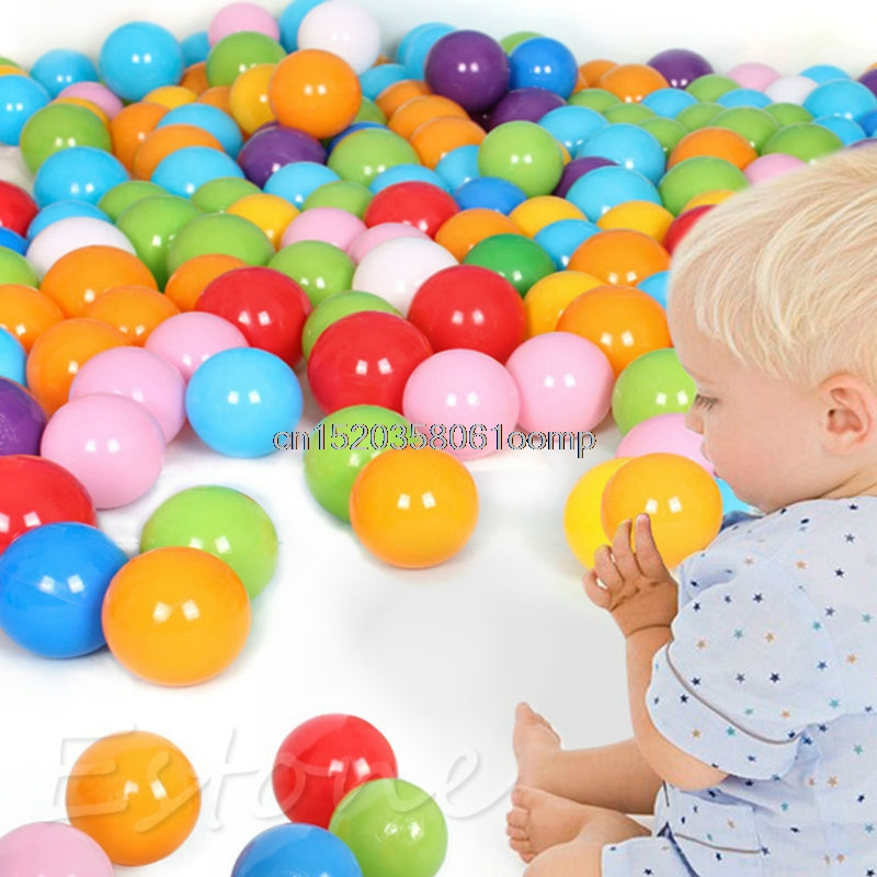 7CM Eco-Friendly Colorful Ball Soft Plastic Ocean Ball Funny Baby Kid Swim Pit Toy Water Pool Ocean Wave Ball 100PCS