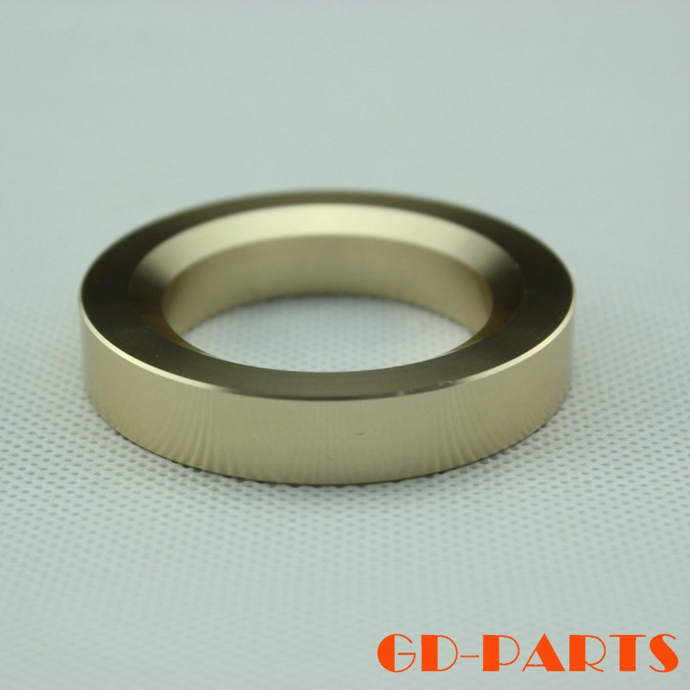 GD-PARTS 1PC Champagne Gold Aluminum Decorative Ring For 300B 2A3 6P3P EL34 Vintage Tube Amplifier CNC Machined