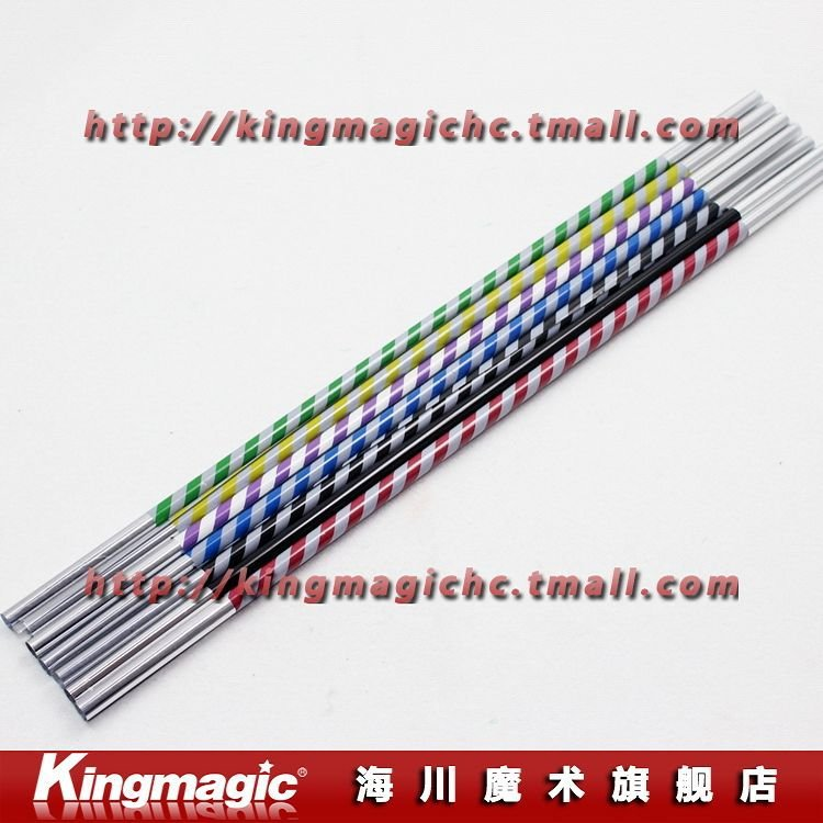 Free shipping!Wholesale 50pcs/lot Mini Lightning Cane(Two Colors in one cane) appearing stick many colors magic trick magic prop