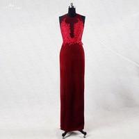 RSE720 Sexy Long Evening Burgundy Long Dress Evening Gowns