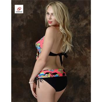 Cooclo Brand Plus Size 7XL Women Bikinis Set Butterfly Printed Push Up Biquini Swimwear Underwire Bathing Beach Cooclo Swimsuits 10
