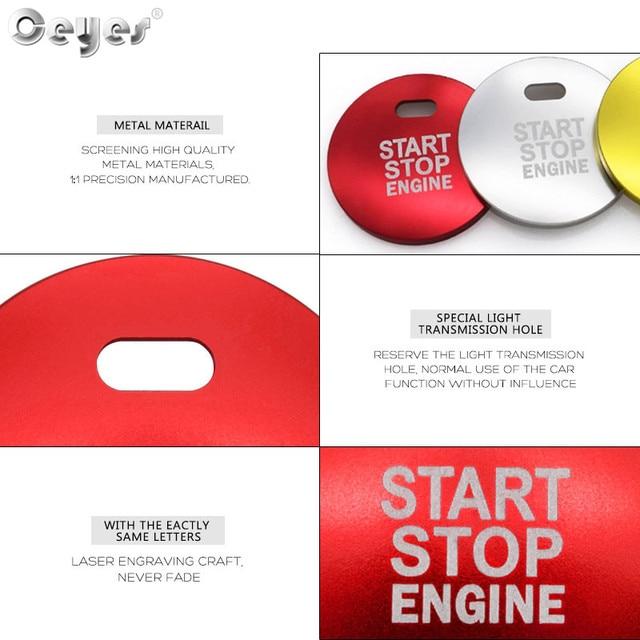Pegatinas de diseño de complemento para el coche ceeyes aptas para Mazda 3 BM BN 6 GJ1 GL CX4 CX5 CX 5 Axela CX3 Atenza botón de arranque del motor anillo automático