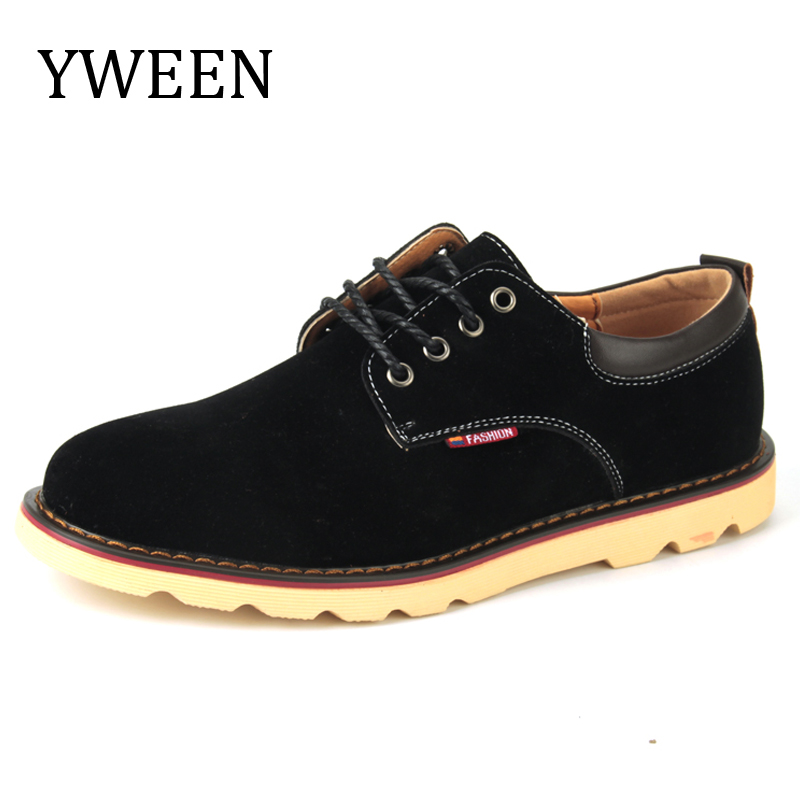 YWEEN Spring Autumn Man Casual Shoes Fashion Trend Rubber Flat Lace-up Style Suede Men Shoes Large size Hot Sale hot sale men s shoes casual shoes for men winter autumn low top patchwork canvas fashion lace up mens classic casual shoes