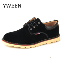 2016 Hot Sale Spring Autumn Man Casual Shoes Fashion Trend Rubber Flat Lace Up Style Suede