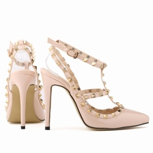 LOSLANDIFEN Pumps Stiletto Fashion Sexy High-heeled Shoe