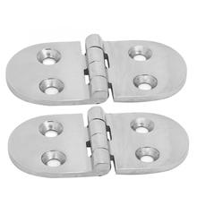 76*38*3.3mm door hinges for heavy doors 2Pcs Thickened Stainless Steel 4 Holes Hinge Boat Deck Door Accessories stainless