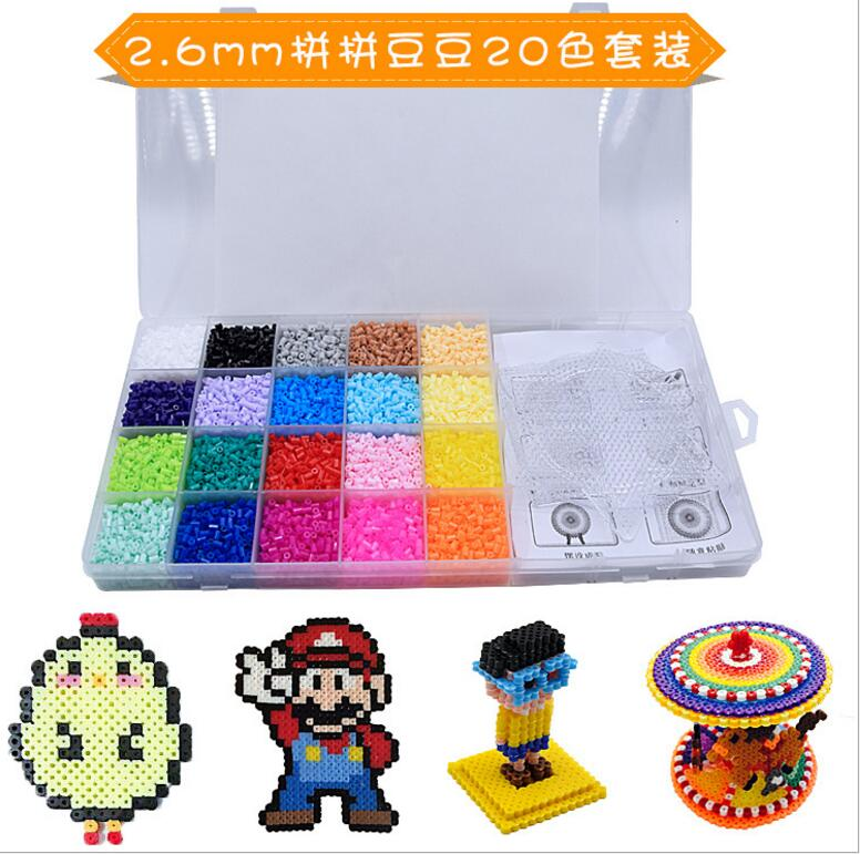 2019 Kids DIY Perler Beads Pegboard Educational Crafts Toys Templates 15 Styles
