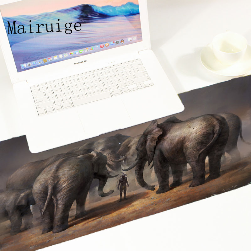 Mairuige Animal Series Anti Slip Elephant Game mouse pad Fps Video Game Gaming Mousepad Large Size Pc Table Mat Pad for Csgo