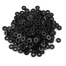100 sztuk/pudło czarny z tworzywa sztucznego na ramię podkładki spoiwa dla M4 śruby części maszyny do tatuażu hurtownia