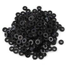 Unids/caja de arandelas de plástico negro para hombros, carpeta para tornillos M4, partes de máquina de tatuaje, venta al por mayor, 100