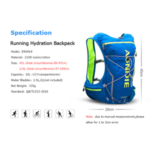 Image 2 - AONIJIE 10L Running Hydration Pack Backpack Bag Vest With Water Bladder Hiking Marathon Race Trail Sports