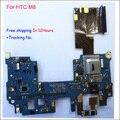 Versão internacional originais placa principal power on off switch mainboard motherboard teste ok cabo conector para htc one m8